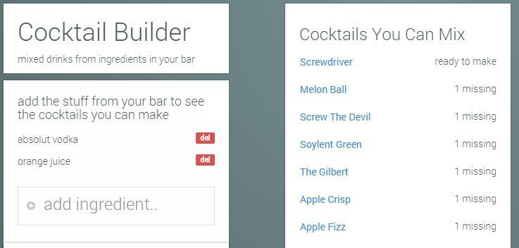 cocktail builder