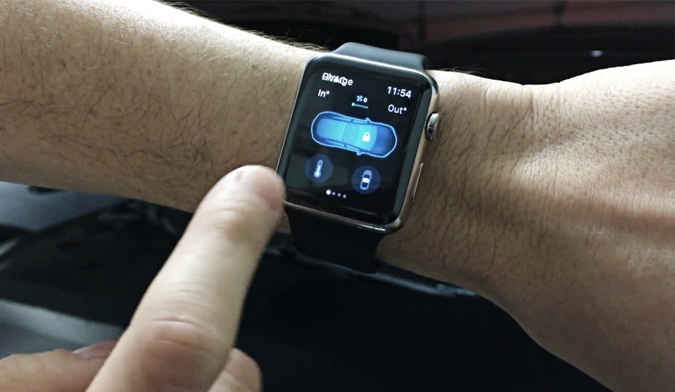 WATCH THIS GUY SUMMON HIS TESLA FROM AN APPLE WATCH