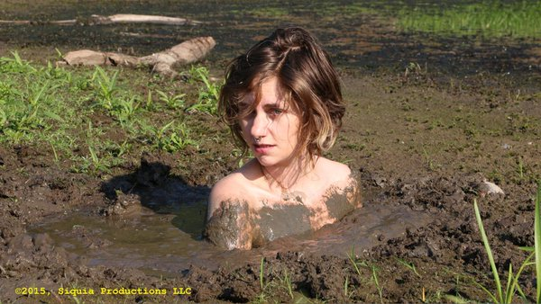 sexy girl in quicksand