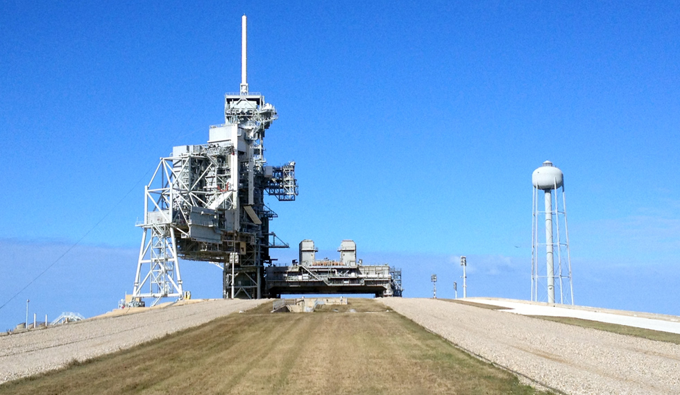Empty rocket launch pad
