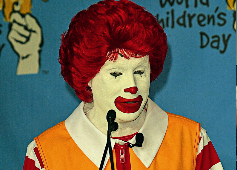 Creepy Clown Craze Forces Ronald Mcdonald To Scale Back