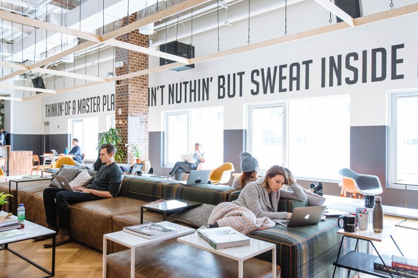Wework plans to buy meetup a site for hobbyists for Site office design